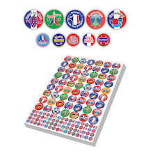 Assorted French Reward Stickers 3930pk  medium