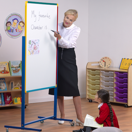 Junior Mobile Double Sided Whiteboard  large