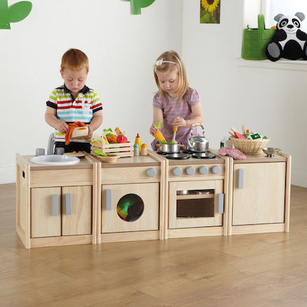 Toddler Height Wooden Kitchen Unit Multibuy  large