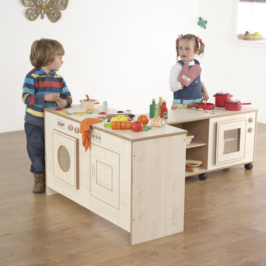 Buy wooden space saver fold away kitchen unit tts for Small childrens kitchen