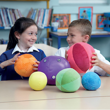 Machine Washable Soft Tactile Sensory Balls 6pk  medium