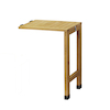 Wall Hugger Side Table Natural Wood  small