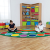 Rainbow Placement Rugs  small