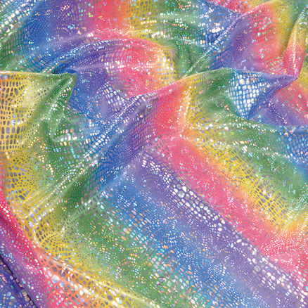 Rainbow Coloured Display Fabric 1m  large