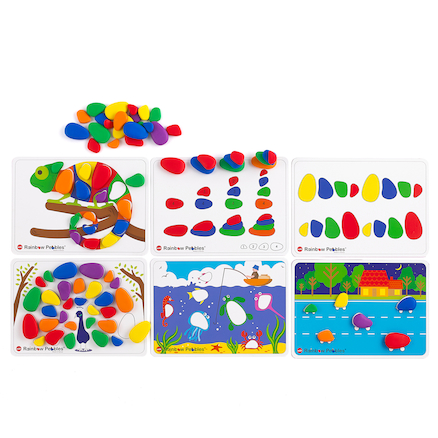 Sort and Pattern Rainbow Pebbles  large