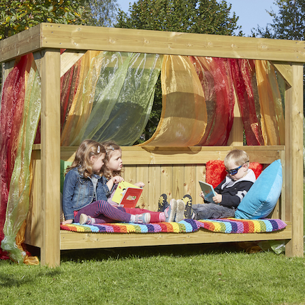 Outdoor Wooden Reading Super Seat  large