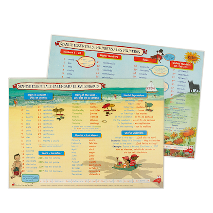 Spanish Vocabulary Desk Mats  large