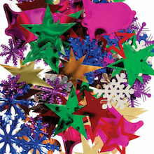 Giant Assorted Christmas Sequin Shapes 50g  medium