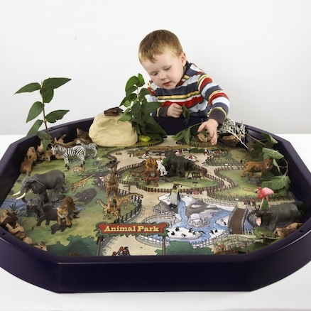 Active World Tuff Tray Safari Park Mat  large