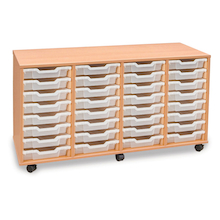 Mobile Tray Storage Unit With 28 Shallow Trays  medium