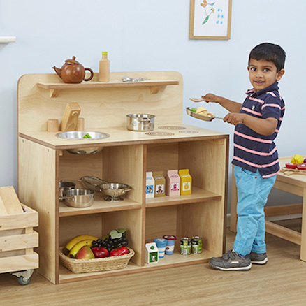 Toddler Wooden Role Play Kitchen Unit  large