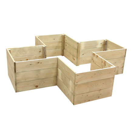 Cross Shaped Grow Bed  large