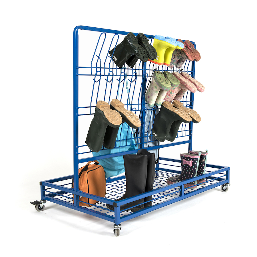 Buy Double Sided Wellie Rack And Coat Rail Tts