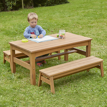 Outdoor Low Table and Benches Set  medium