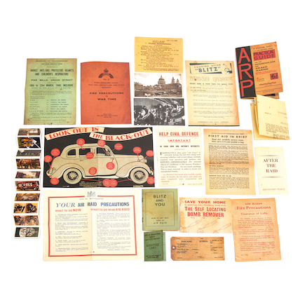WW2 Air Raid Patrol Artefacts Collection  large