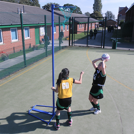 Wheel\-Away Adjustable Netball Posts and Bases Pair  large