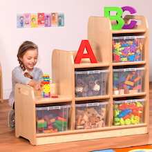 PlayScapes Stepped Storage Unit  medium