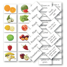 Matching Fruit and Vegetable Cards 144pk  medium