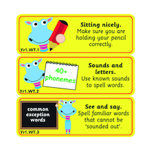 Writing Target Stickers Years 1 to 6  medium