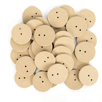 2 Hole Wooden Cam Wheels 4mm Hole 30pk  large