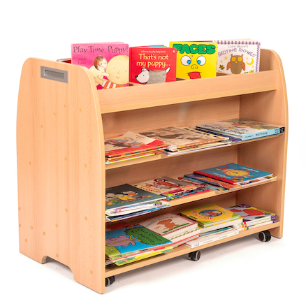 Double Sided Mobile Book Storage Unit  large