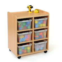 Safe Sturdy Tray Storage Units With Deep Trays  medium
