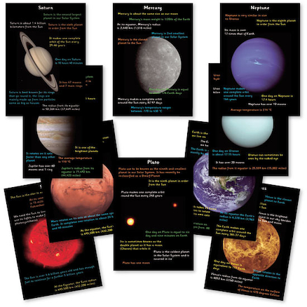 Solar System Fact Cards 10pk  large