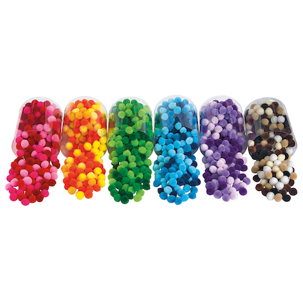 Shades of Colours Pom Poms Assorted Pack  large
