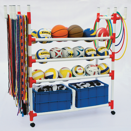 Plastic Sports Storage Trolley  large