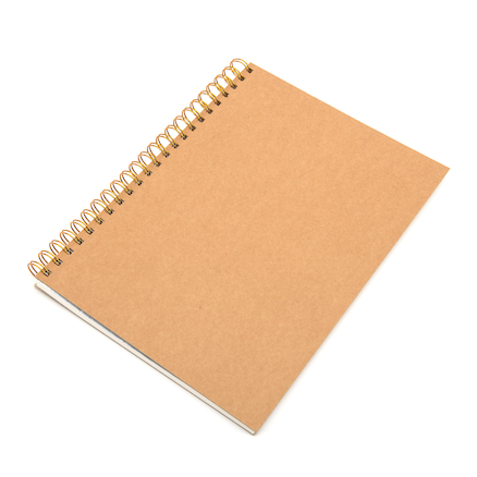 Pisces Hardback Kraft Cover Spiral Sketchbook A4 140gsm  large