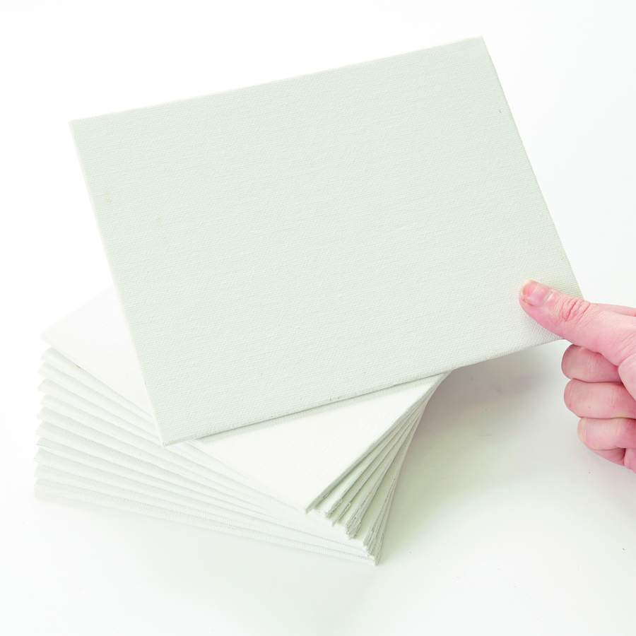 Buy primed white canvas panels 20 x 15cm 12pk tts for Small canvas boards