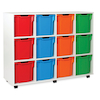 White Tray Storage Unit With 12 Jumbo Trays  small