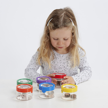 Rainbow Magnification Viewer Pots - 6PK  medium
