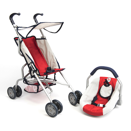 Role Play Dolls Pram and Carrier Set  large