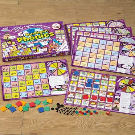 6 Synthetic Phonics Phase 5 Board Games  large