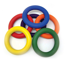 Rubber Quoits 6pk  medium