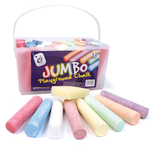 Assorted Jumbo Playground Chalk 52pk  medium