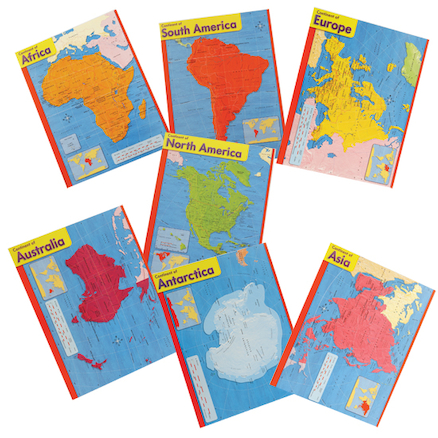 Seven Continents Charts 56 x 43cm  large