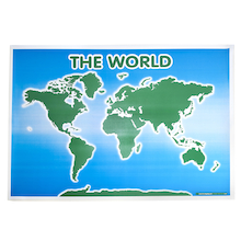 Large Wipeable Map of the World 150 x 100cm  medium
