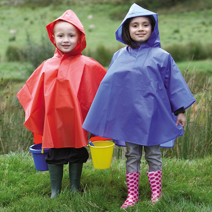 Waterproof Poncho Small Blue  large