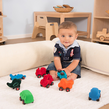Rubbabu Baby Tactile Vehicles 8pcs  medium