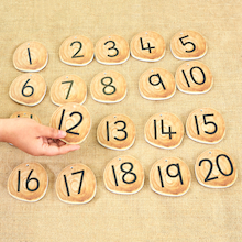 Rustic Number Collection 1-20  medium