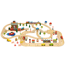 Small World Wooden Town Road and Rail Set  medium