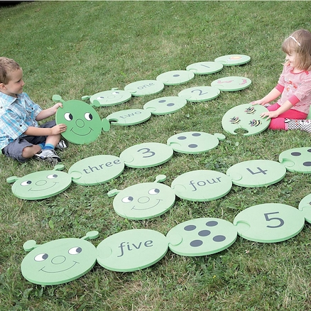 Foam Outdoor Caterpillar Number Puzzle 1\-5 25pcs  large