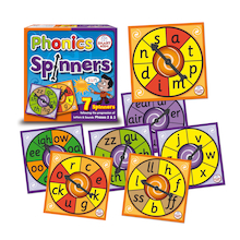 Phase 2 and 3 Phonics Spinners  medium