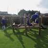 Outdoor Wooden Wacky Balance Playframe and Slide  small