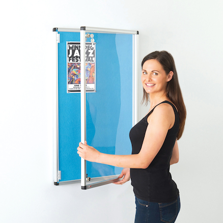 ColourPlus Lockable Noticeboards  large