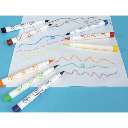 Fibre Tip Fabric Pens Assorted Colours 8pk  large