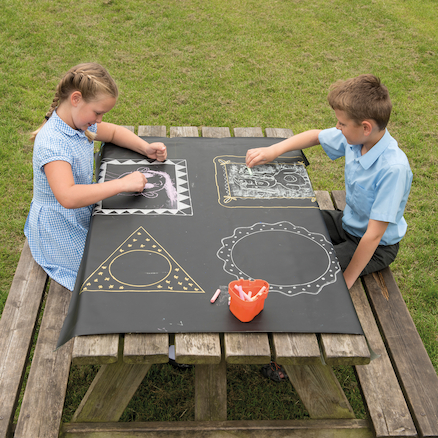 Chalkboard Cloth Table Covers 2pk  large