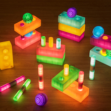Light up Glow Spheres, Cylinders and Bricks  medium